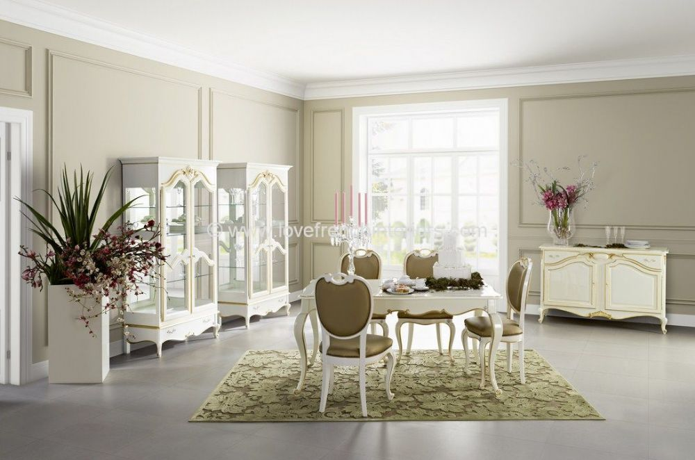 Glamour Dining Collection in White